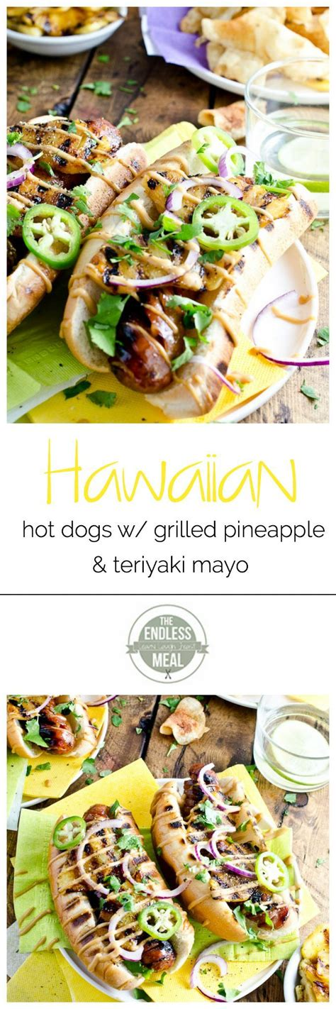 is pineapple for dogs hawaiian dogs with grilled pineapple and teriyaki mayo
