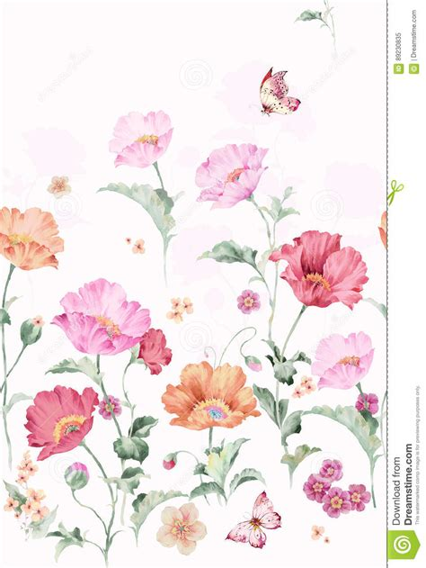 hand painted flower pattern flower pattern hand painted flowers watercolor flowers