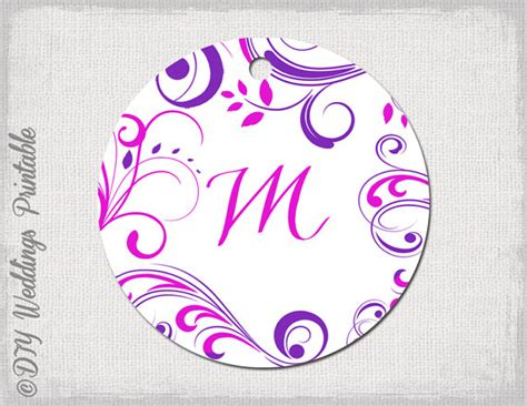 labels for wedding favors free templates wedding favor tags template pink purple monogram