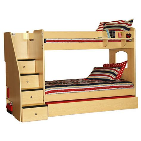 bunk beds with steps berg furniture enterprise twin over twin bunk bed with stairs