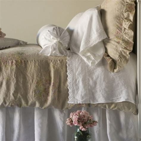 burlap and white linen bedding bedding pinterest