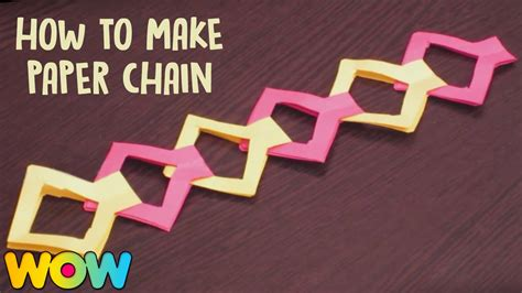 Make Paper Chain - how to make paper chain paper crafts easy diy