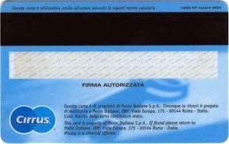 banco posta maestro bank card maestro quot bancoposta quot poste italiane italy