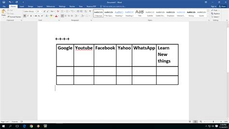 how to a table in word learn things easiest way to insert create table in ms