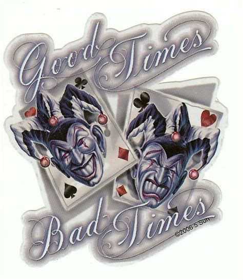 good bad tattoo designs collection of 25 bad times joker design