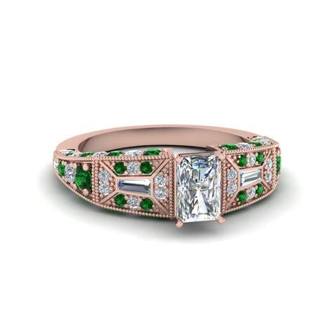 stunning emerald vintage engagement rings fascinating