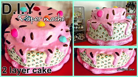 How To Make Paper Mache Food - paper mache sculpture 2 layer cake