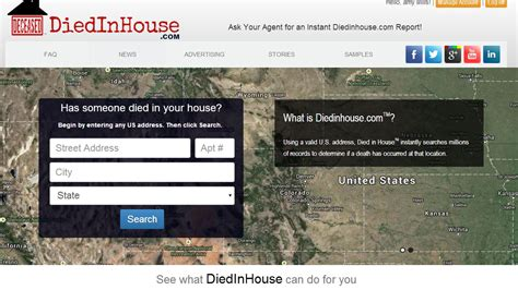 now there s a website diedinhouse to find out if