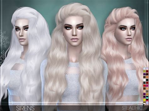 sims 4 hair cc stealthic sirens female hair