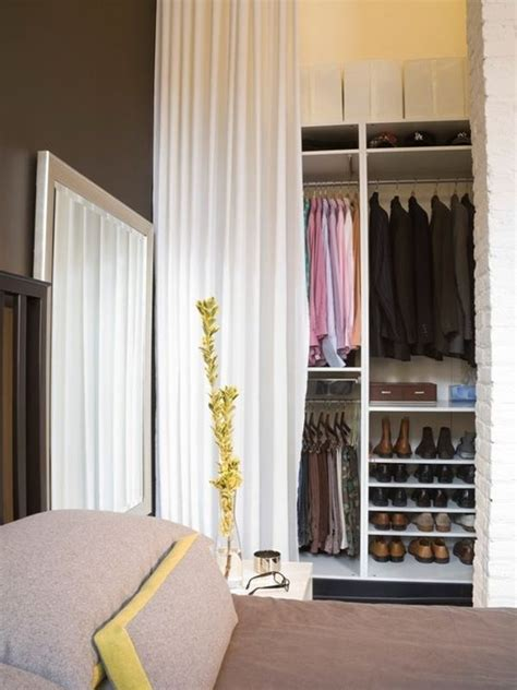 Curtains Instead Of Closet Doors Curtains Closet Instead Of Doors Home Decorating Trends Homedit
