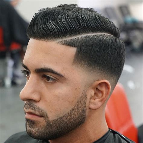 curly comb over low bald fade with hard part top 51 best new men s