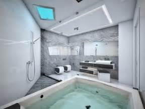 Modern Bathroom Grey And White Futuristic Black And White Apartment