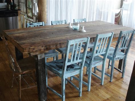 how to make a rustic dining room table how to distress furniture hgtv