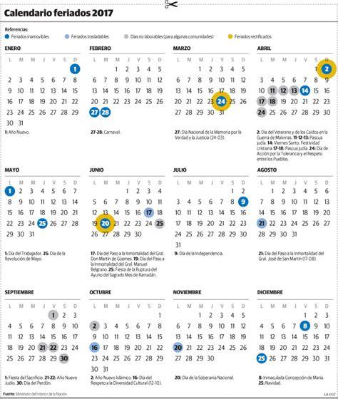 calendario escolar argentina 2017 2018 calendario completo de feriados 2017