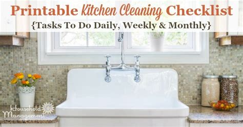 Kitchen Cleaning Checklist   Daily, Weekly And Monthly
