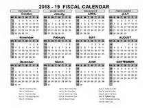 2018 Fiscal Calendar 2018 Fiscal Year Calendar Template Printable Free Templates