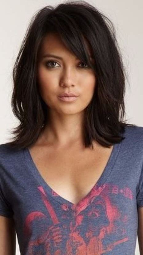 cute shoulder length haircuts longer in front and shorter in back 37 haircuts for medium length hair