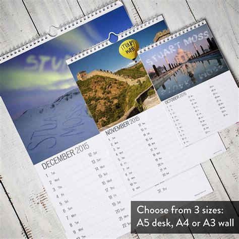 Calendar Personalised Personalised Destinations Calendar Gettingpersonal Co Uk