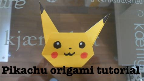 How To Make A Paper Pikachu - origami pikachu