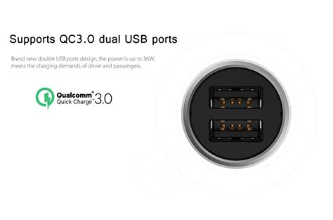 Aukey Car Charger Oc 3 0 Cc T9 xiaomi mi car charger qc 3 0 fast charge version