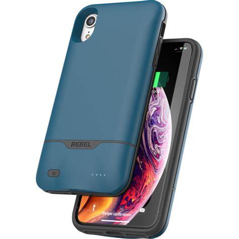 encased rebel power battery for iphone xr blue rp71ab b h