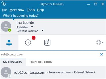 Business Email Search By Name Allow Users To Contact External Skype For Business Users Office Support