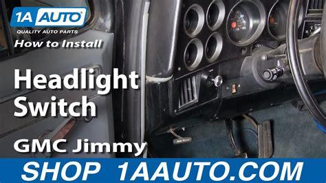 install replace headlight switch chevy gmc pontiac