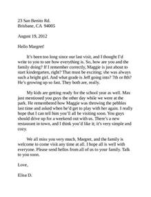 friendly letter format how to write a friendly letter