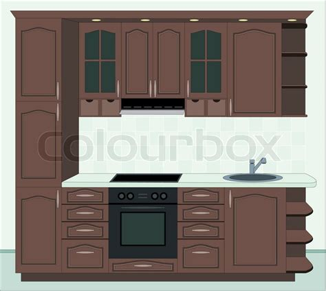 furniture for the kitchen kitchen furniture interior of kitchen stock photo