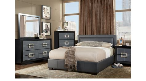 7 Pc Bedroom Set by City View Gray 7 Pc King Upholstered Bedroom Platform