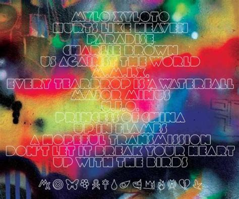 coldplay list song coldplay reveal mylo xyloto tracklist
