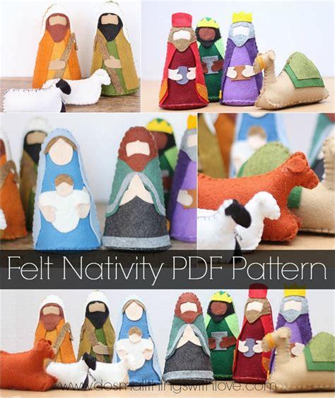 pattern felt nativity felt nativity set pattern christmas nativity scene