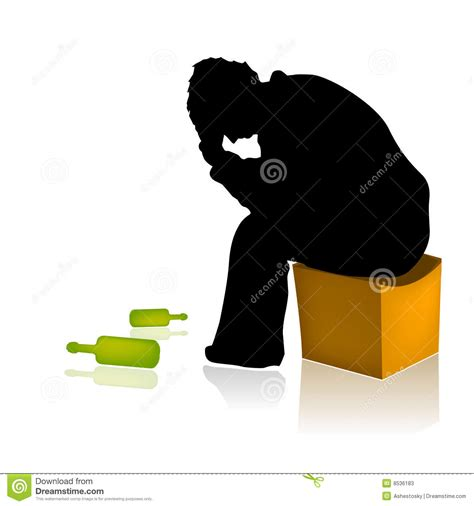 alcohol vector alcohol abuse addicted man vector stock vector image