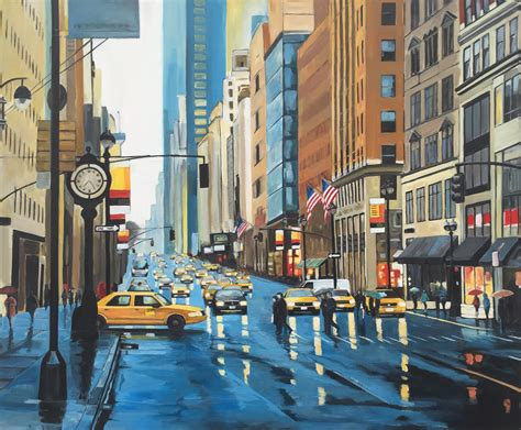 Painting In Nyc by Paintings Of New York For Sale By Uk Cityscape Artist