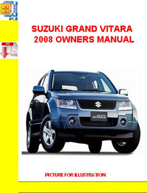 suzuki grand vitara 2008 owners manual download manuals tec