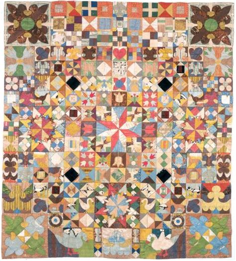 Patchwork Guild - the 1718 silk patchwork coverlet current exhibitions at