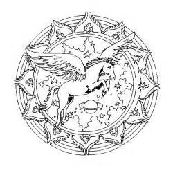 coloriage mandala cheval a imprimer gratuit