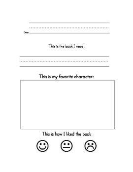 kindergarten book reports kindergarten book report by learn los angeles teachers