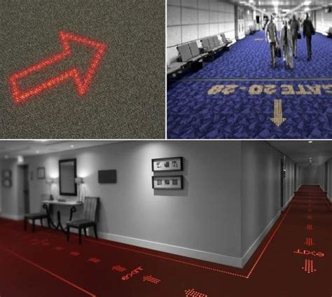 can you place carpet on signs digital carpet embedded with array of leds is alternative