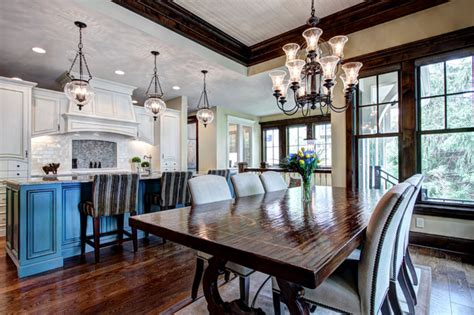 Traditional Dining Room Kitchen Open Floor Plan Gallery And | open floor plan kitchen and dining room traditional