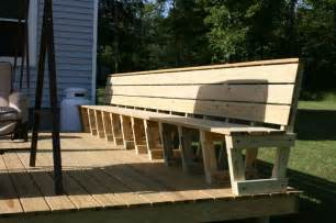 bench railing comfortable built in deck benches search deck