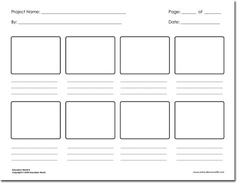 animation templates 36 free storyboard templates for basic visual and