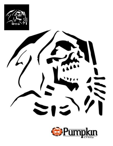 Printable Grim Reaper Pumpkin Stencils   grim reaper pumpkin pattern
