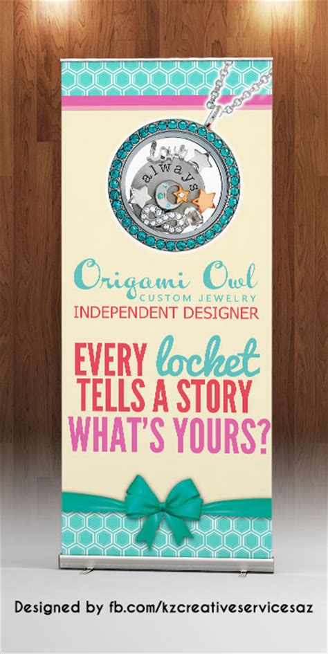 Origami Owl Banner - origami owl retractable banner 183 kz creative services