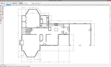 drawing a floor plan in sketchup 2d drawing in sketchup popular woodworking magazine