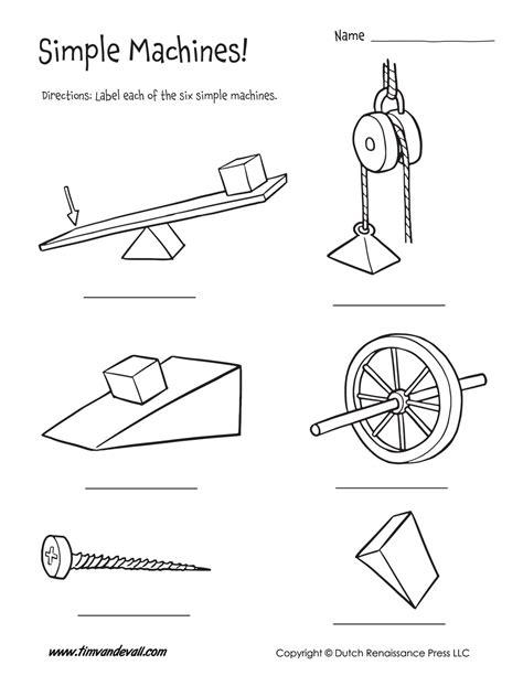 Simple Machine Worksheet by Six Simple Machines Worksheet Tim S Printables