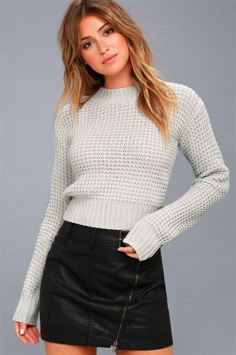 Marsmellow Crop Hoodie sweater light grey sweater cropped sweater