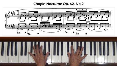 chopin nocturne op 62 no 1 piano tutorial youtube chopin nocturne in e major op 62 no 2 piano tutorial