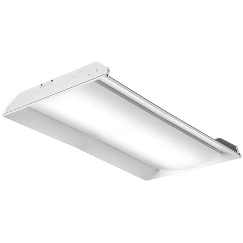 Lithonia Light Fixtures Lithonia Lighting 2 Ft X 4 Ft White Led Prismatic Lens Troffer 2gtl4 The Home Depot