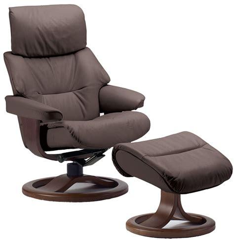 fjords grip ergonomic leather recliner chair ottoman